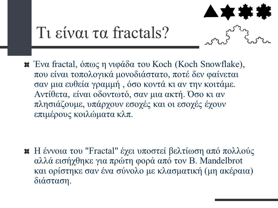 Τι είναι τα fractals