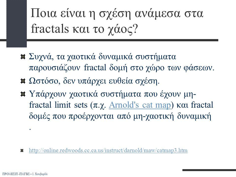 Ποια είναι η σχέση ανάμεσα στα fractals και το χάος