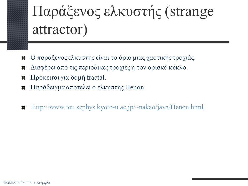 Παράξενος ελκυστής (strange attractor)