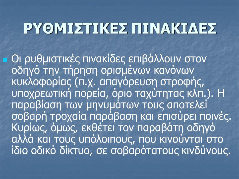 ΡΥΘΜΙΣΤΙΚΕΣ ΠΙΝΑΚΙΔΕΣ