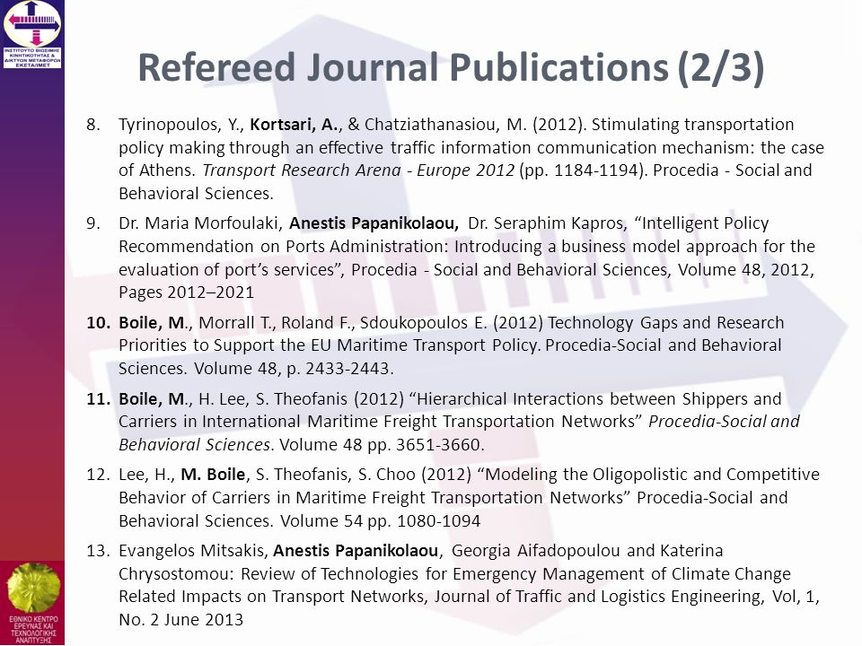 Refereed Journal Publications (2/3)