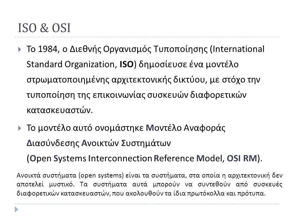 ISO & OSI