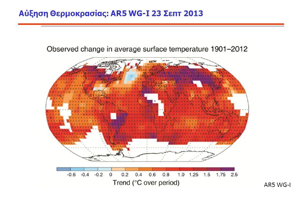 Αύξηση Θερμοκρασίας: AR5 WG-I 23 Σεπτ 2013