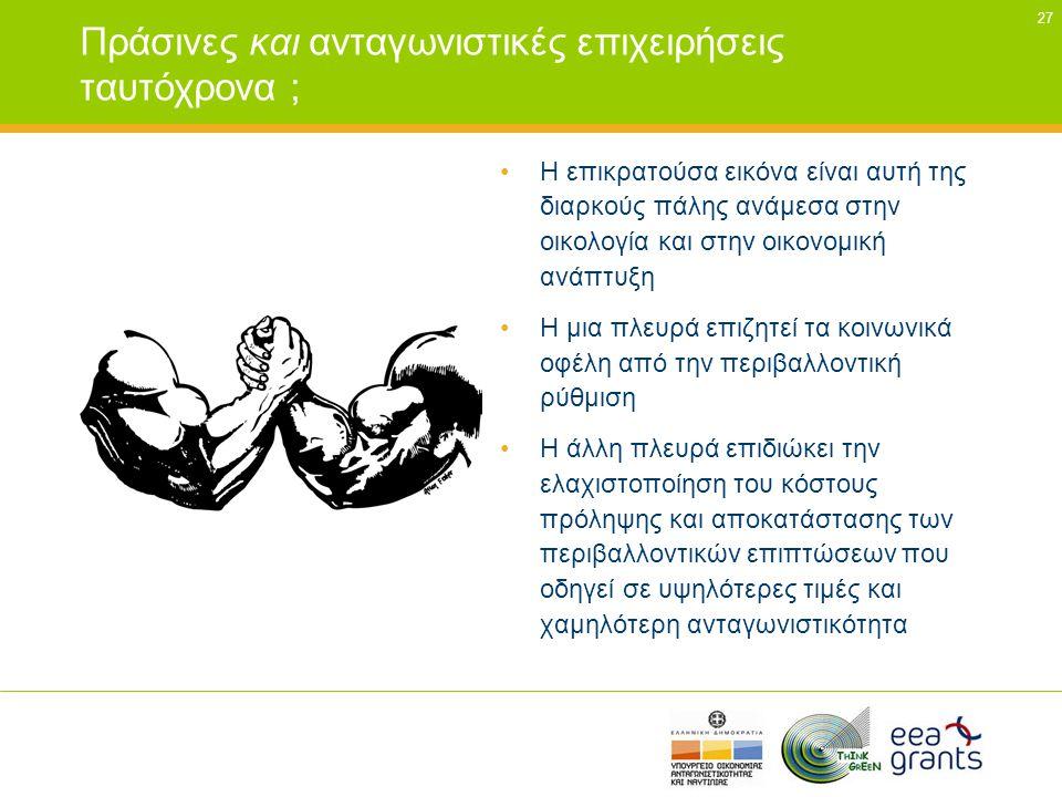 Πράσινες και ανταγωνιστικές επιχειρήσεις ταυτόχρονα ;