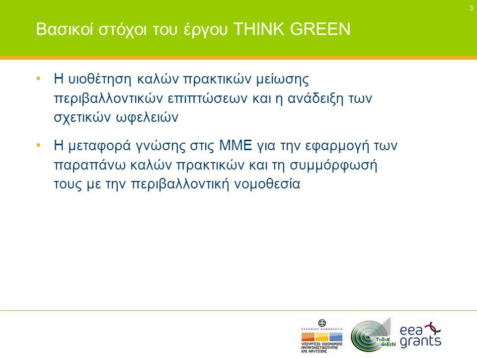 Βασικοί στόχοι του έργου THINK GREEN