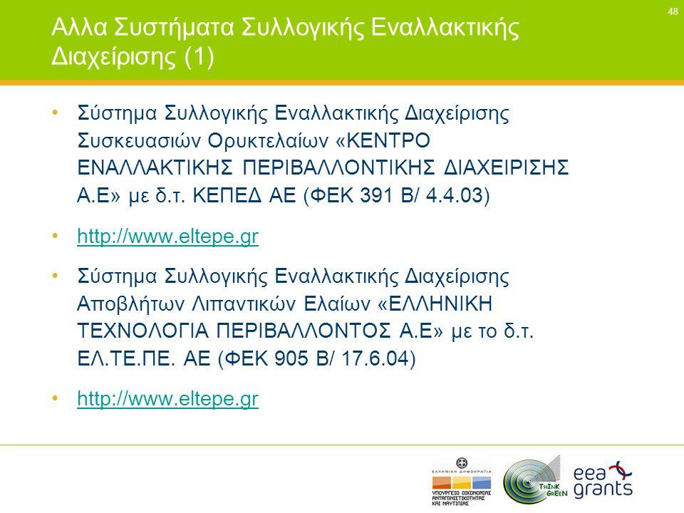 Αλλα Συστήματα Συλλογικής Εναλλακτικής Διαχείρισης (1)