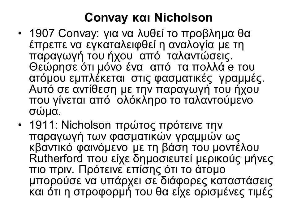 Convay και Nicholson