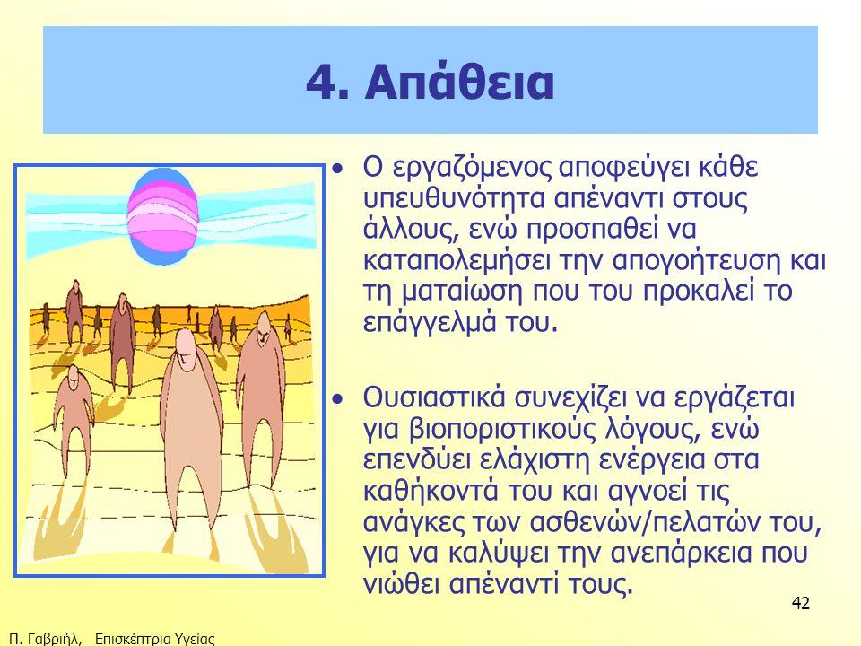 4. Απάθεια