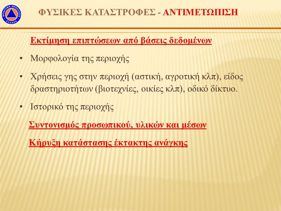ΦΥΣΙΚΕΣ ΚΑΤΑΣΤΡΟΦΕΣ - ΑΝΤΙΜΕΤΩΠΙΣΗ