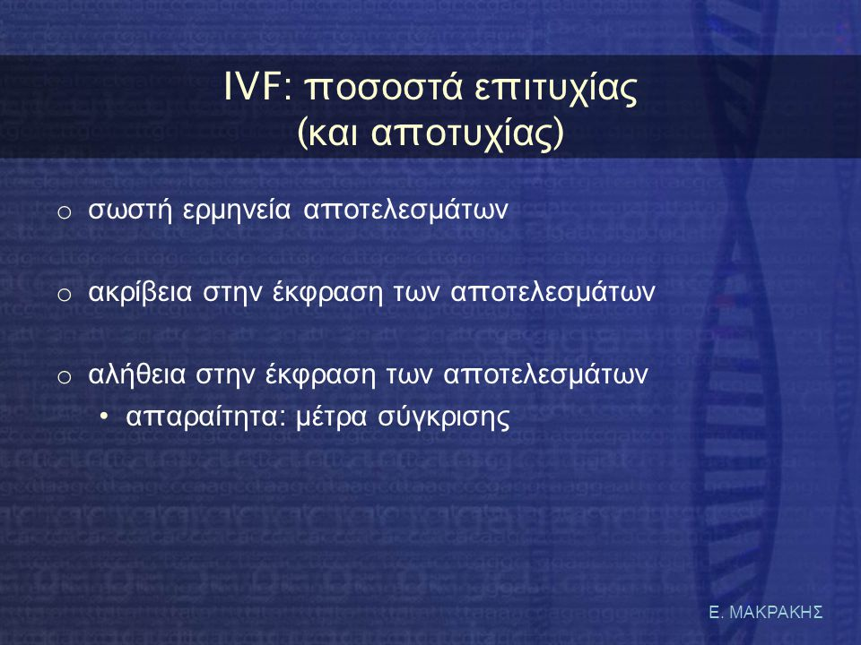 IVF: ποσοστά επιτυχίας (και αποτυχίας)