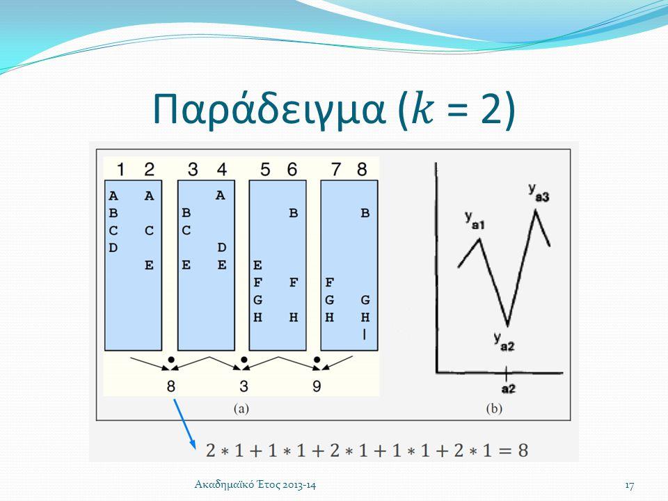 Παράδειγμα (𝑘 = 2) Ακαδημαϊκό Έτος 2013-14