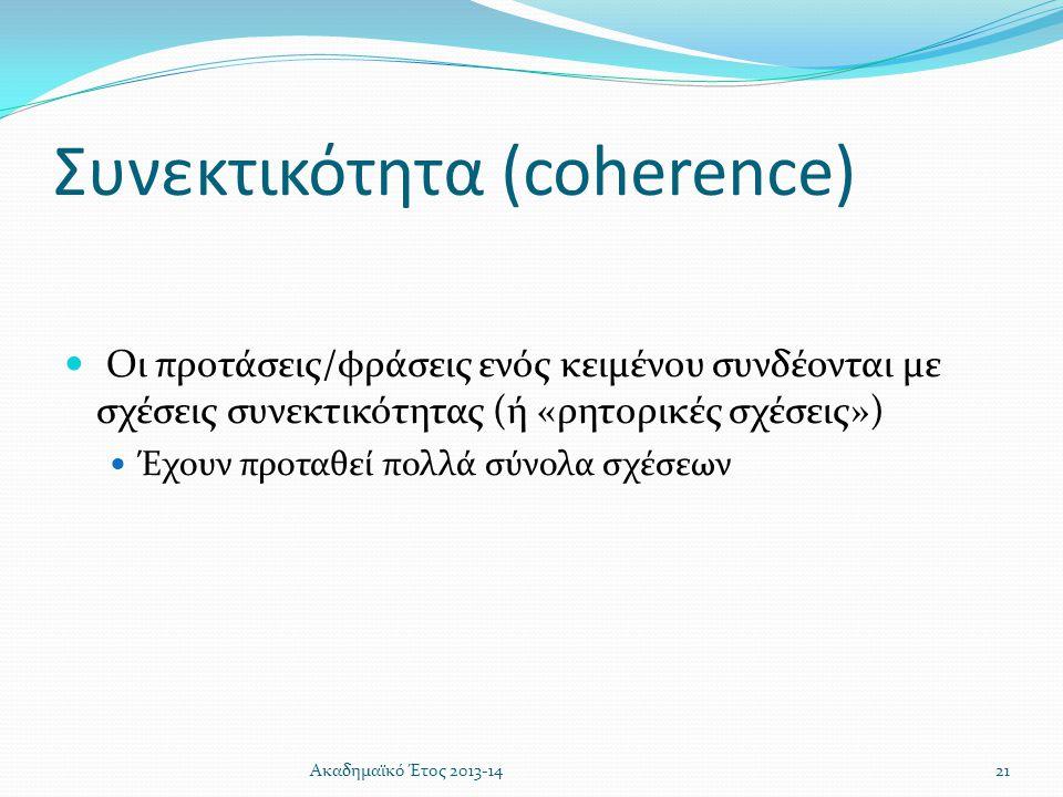 Συνεκτικότητα (coherence)