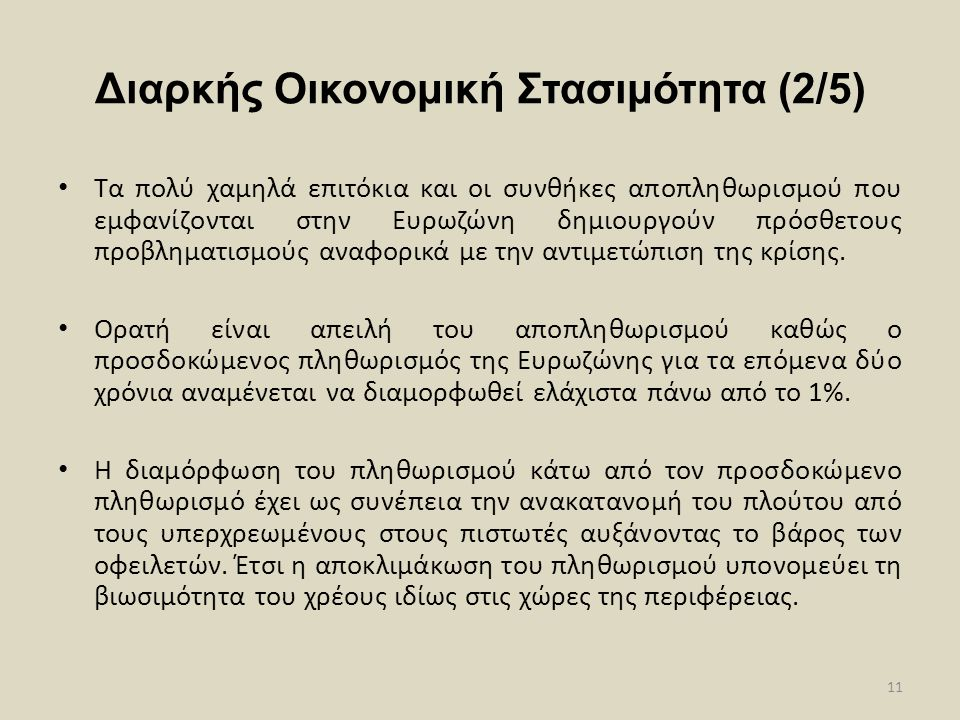 Διαρκής Οικονομική Στασιμότητα (2/5)