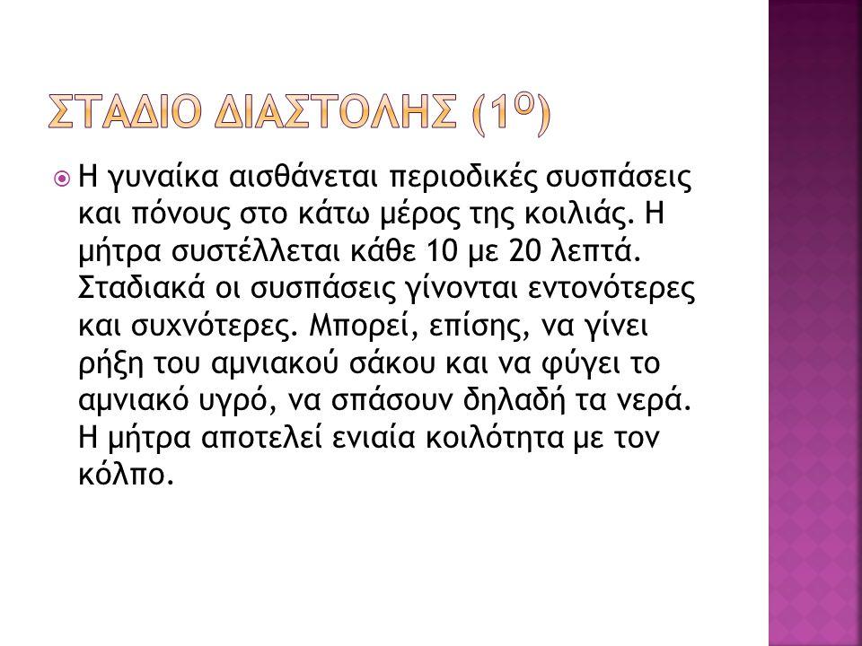 ΣΤΑΔΙΟ ΔΙΑΣΤΟΛΗΣ (1ο)