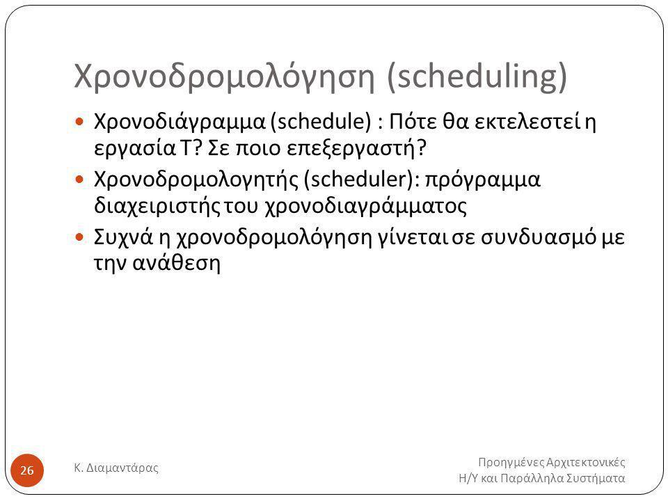 Χρονοδρομολόγηση (scheduling)