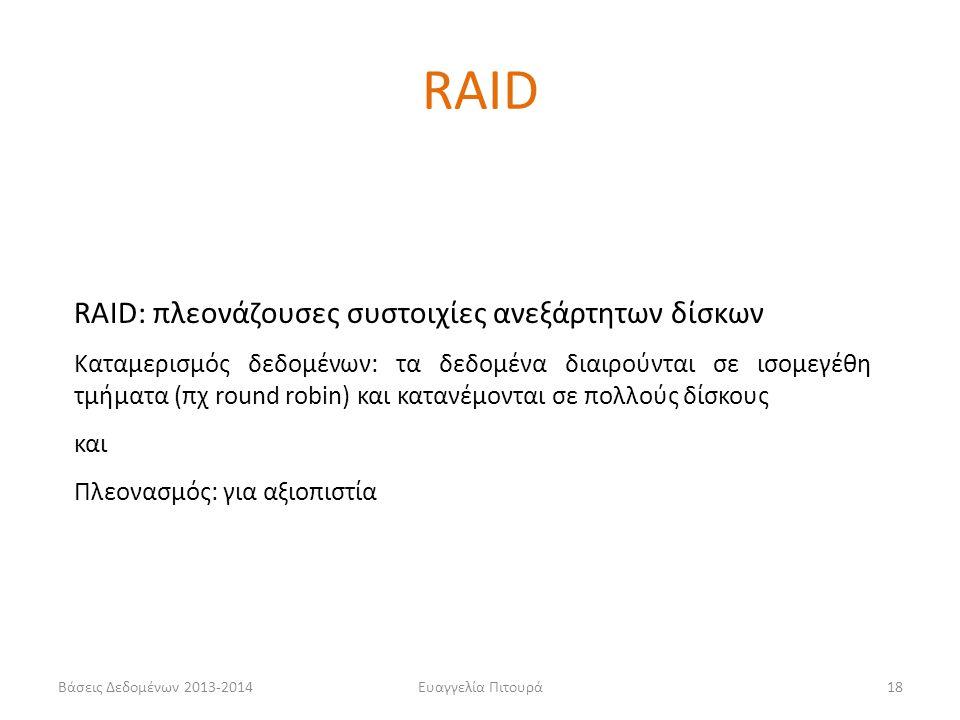 RAID RAID: πλεονάζουσες συστοιχίες ανεξάρτητων δίσκων