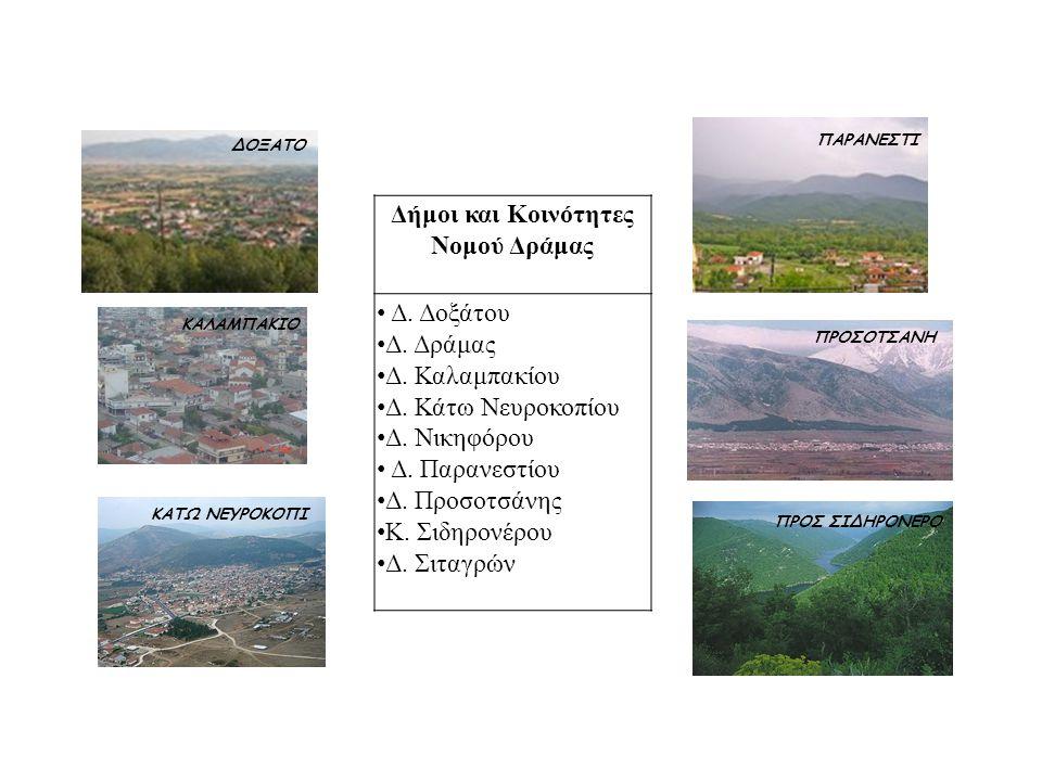 Δήμοι και Κοινότητες Νομού Δράμας