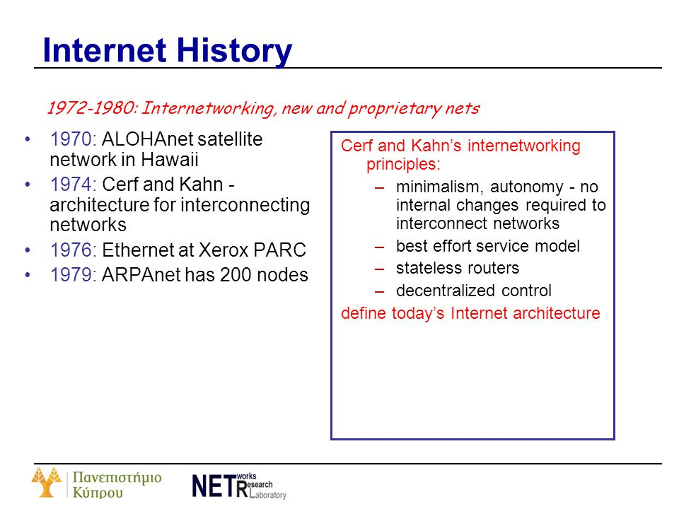 Internet History 1970: ALOHAnet satellite network in Hawaii