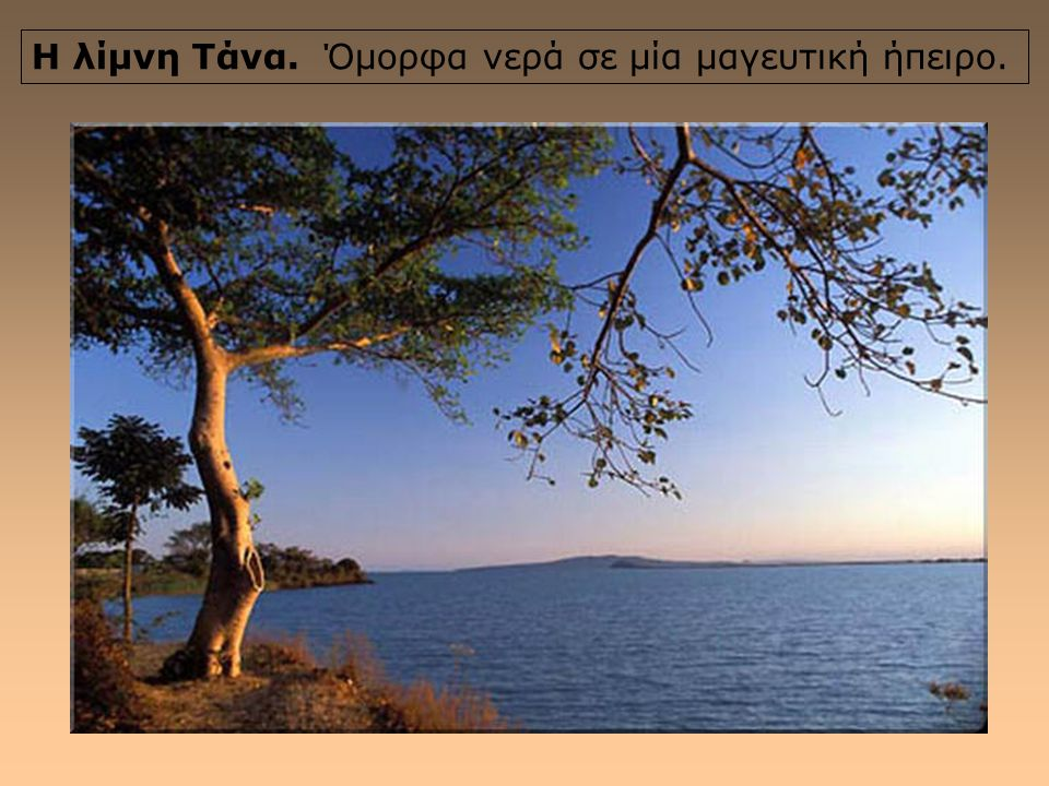 Η λίμνη Τάνα. Όμορφα νερά σε μία μαγευτική ήπειρο.