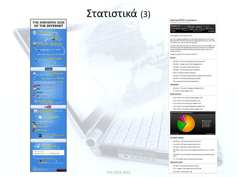 Στατιστικά (3) ΤΠΕ 2011-2012