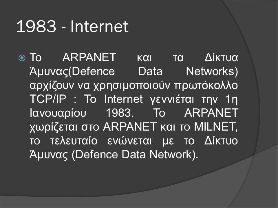 1983 - Internet