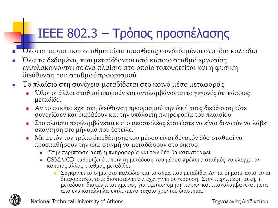 IEEE 802.3 – Τρόπος προσπέλασης