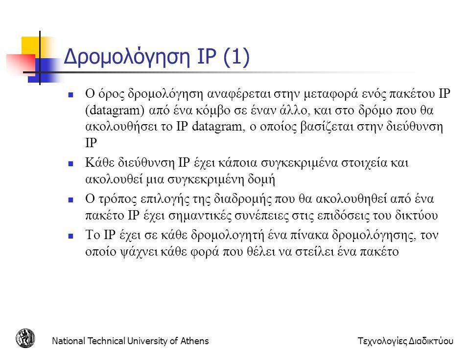 Δρομολόγηση IP (1)
