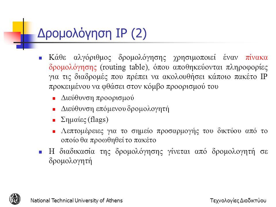 Δρομολόγηση IP (2)