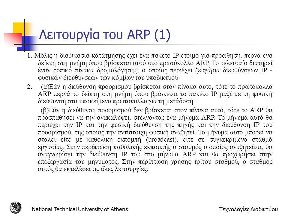 Λειτουργία του ARP (1)