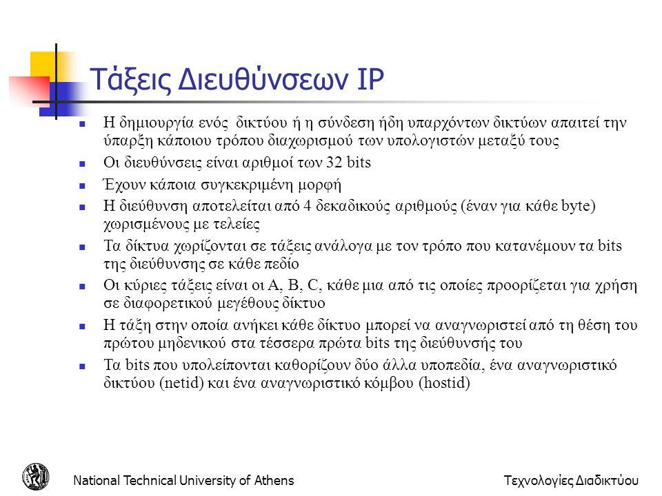 Τάξεις Διευθύνσεων IP