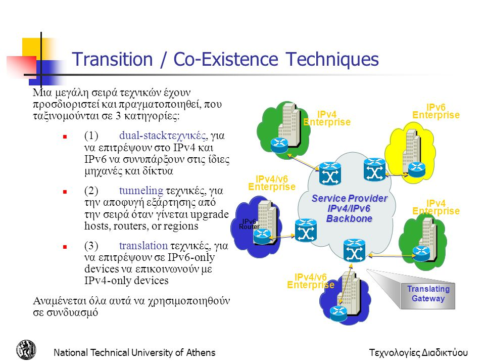 Transition / Co-Existence Techniques