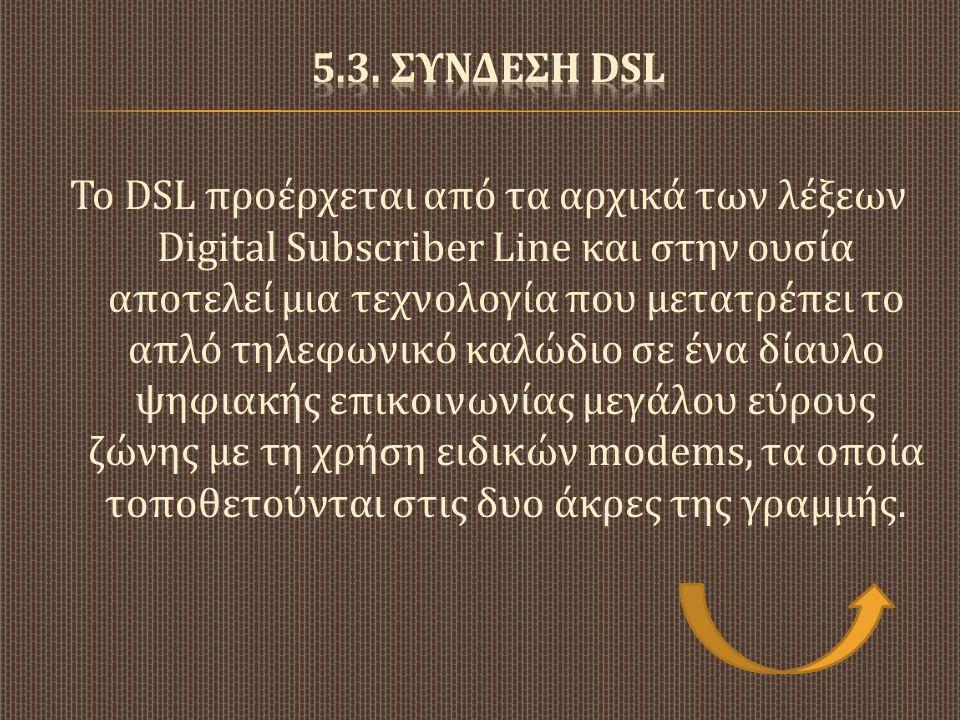 5.3. Συνδεση DSL
