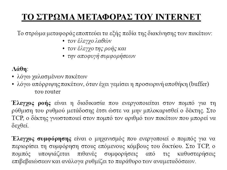 ΤΟ ΣΤΡΩΜΑ ΜΕΤΑΦΟΡΑΣ ΤΟΥ INTERNET