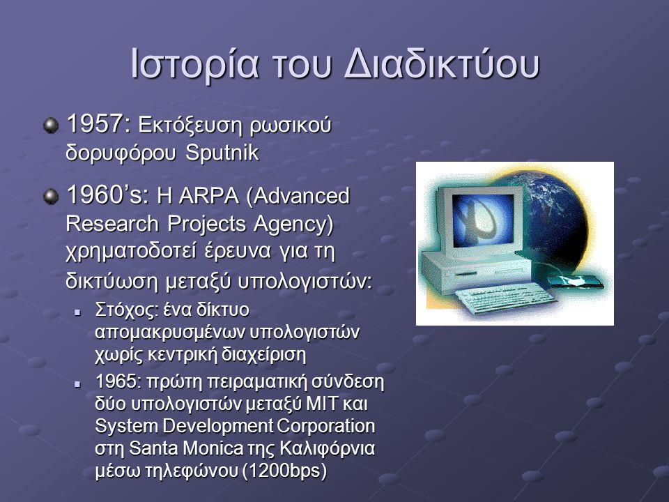 Ιστορία του Διαδικτύου