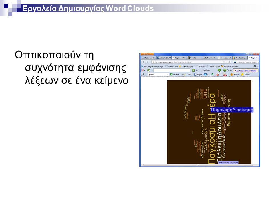 Εργαλεία Δημιουργίας Word Clouds
