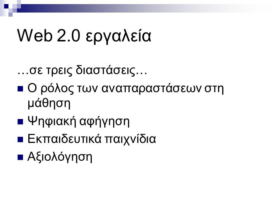 Web 2.0 εργαλεία …σε τρεις διαστάσεις…