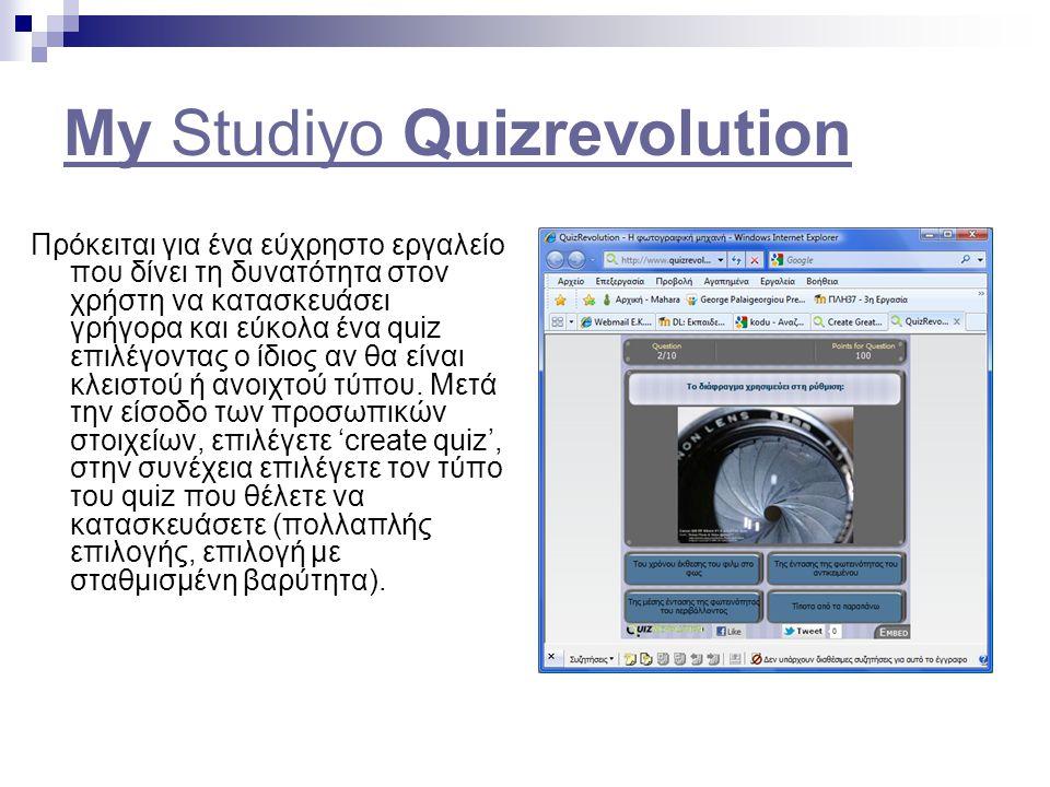 My Studiyo Quizrevolution