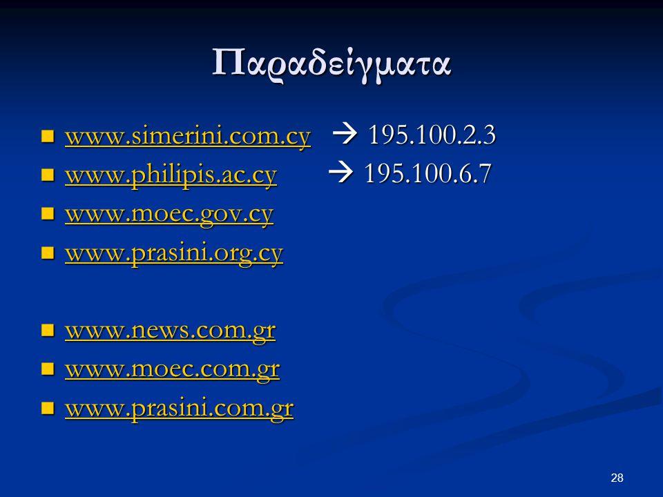 Παραδείγματα www.simerini.com.cy  195.100.2.3