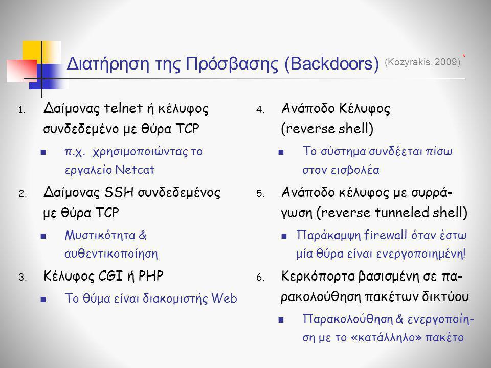 Διατήρηση της Πρόσβασης (Backdoors)