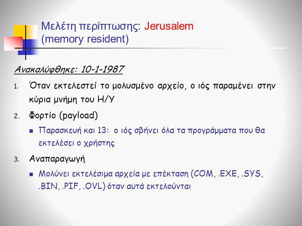 Μελέτη περίπτωσης: Jerusalem (memory resident)