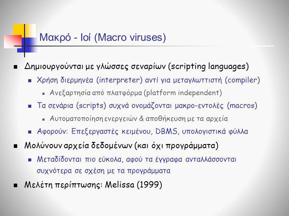 Μακρό - Ιοί (Macro viruses)