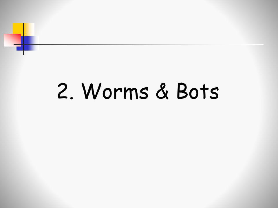 2. Worms & Bots