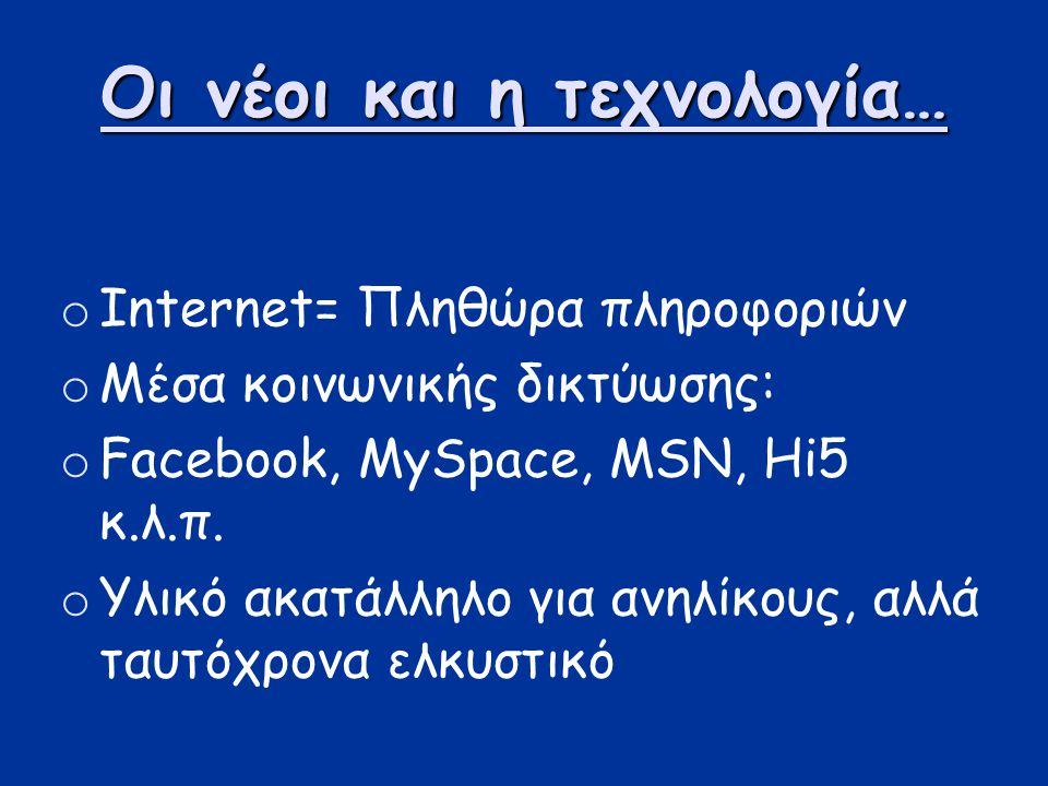 Οι νέοι και η τεχνολογία…