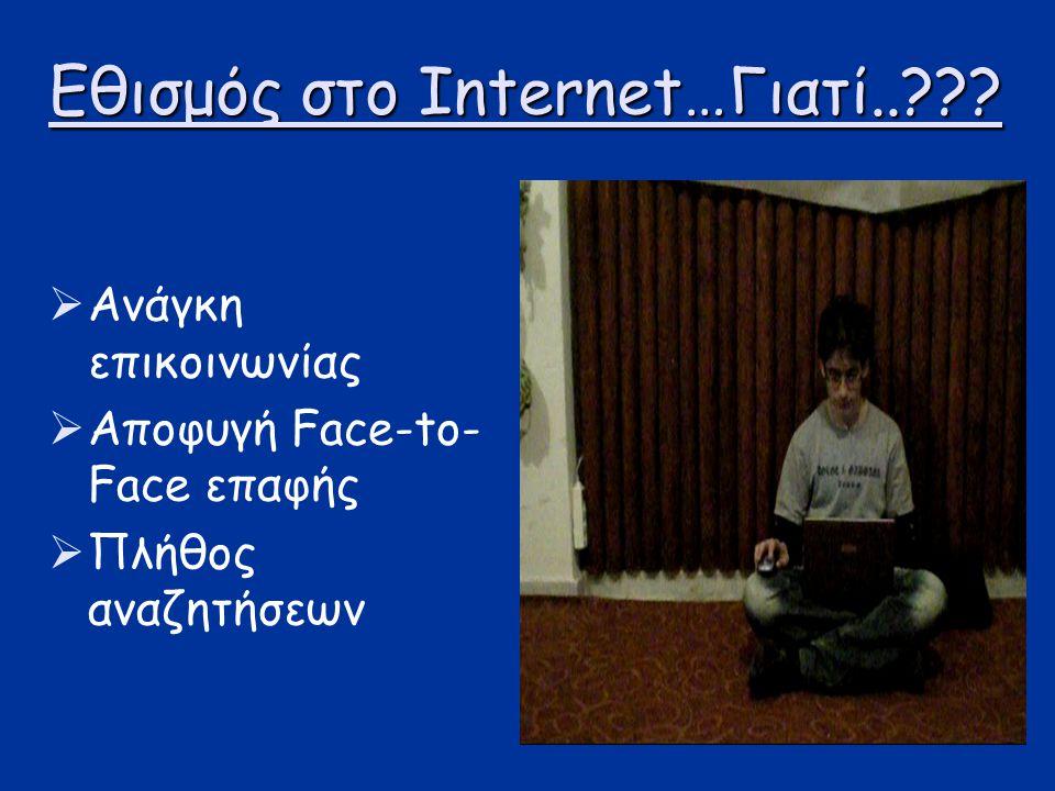 Εθισμός στο Internet…Γιατί..