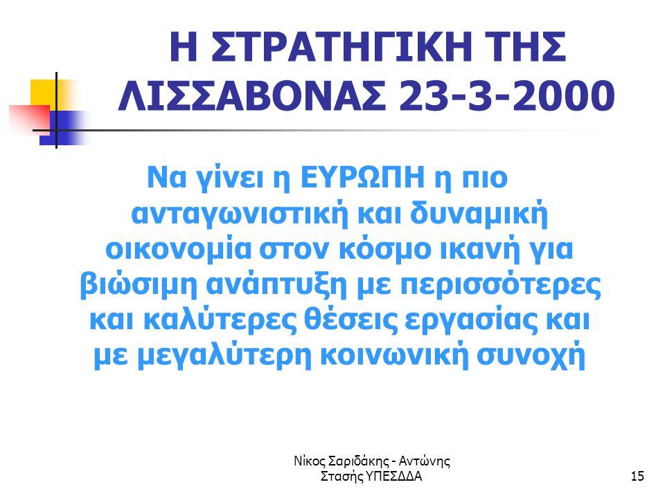Η ΣΤΡΑΤΗΓΙΚΗ ΤΗΣ ΛΙΣΣΑΒΟΝΑΣ 23-3-2000