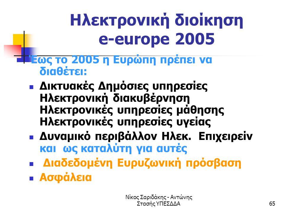 Ηλεκτρονική διοίκηση e-europe 2005