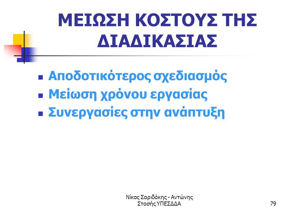 ΜΕΙΩΣΗ ΚΟΣΤΟΥΣ ΤΗΣ ΔΙΑΔΙΚΑΣΙΑΣ