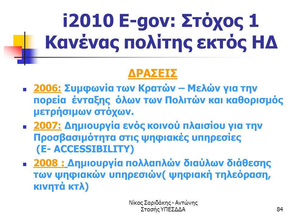 i2010 E-gov: Στόχος 1 Κανένας πολίτης εκτός ΗΔ