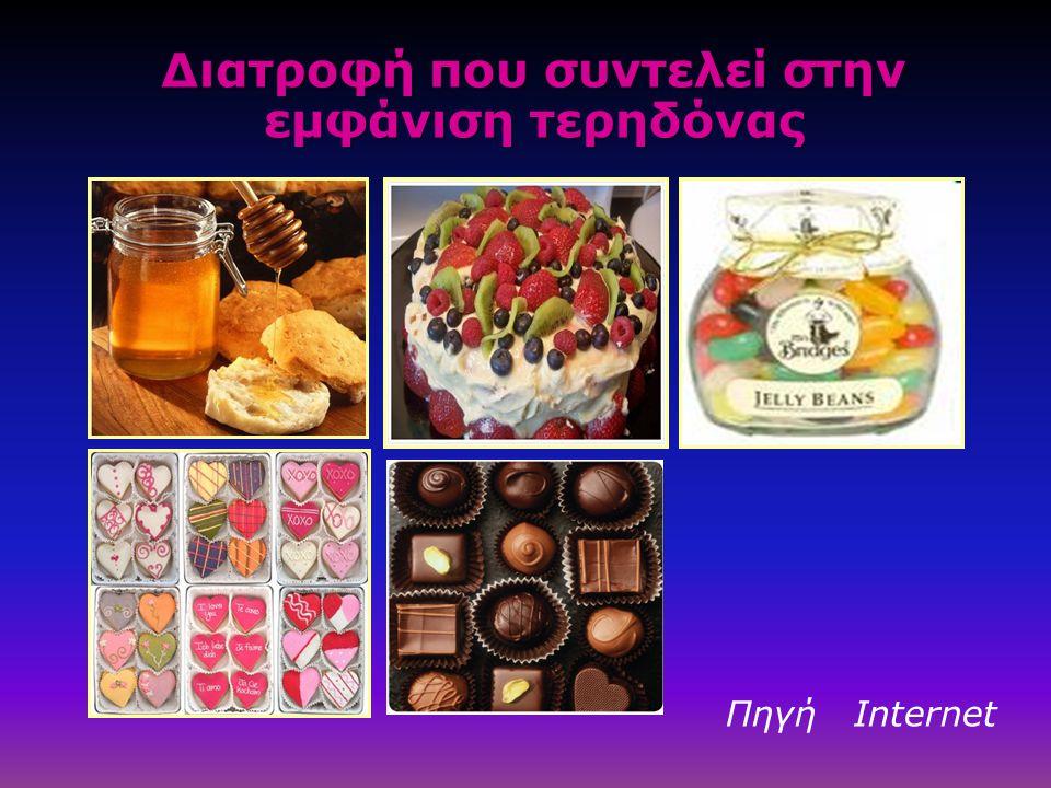 Διατροφή που συντελεί στην εμφάνιση τερηδόνας