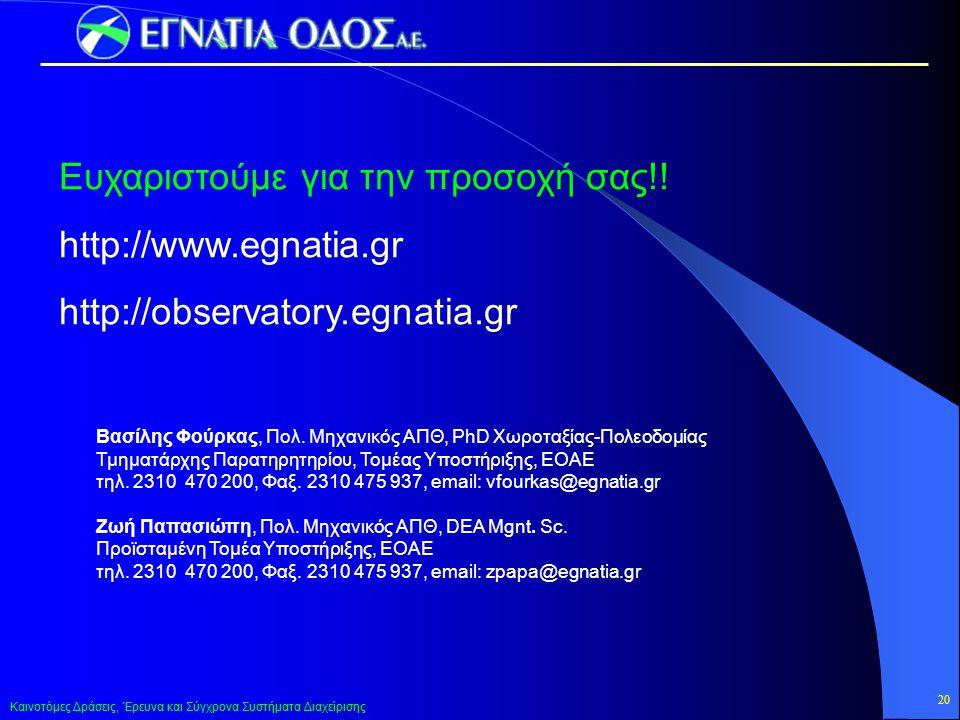 Ευχαριστούμε για την προσοχή σας!! http://www.egnatia.gr
